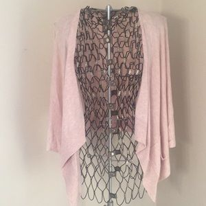 High low open cardigan